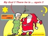 Cartoon: Present (small) by cartoonharry tagged present,santa