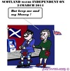 Cartoon: Scotlands Independency (small) by cartoonharry tagged scotland,england,queen,pound,independency