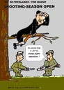 Cartoon: Shooting-Season Starts (small) by cartoonharry tagged priest,hunters,shoot,cartoonharry,high