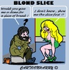 Cartoon: Slice of Bread (small) by cartoonharry tagged beggar,blond,bread