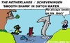 Cartoon: Smooth Shark (small) by cartoonharry tagged shark,holland,fish,coast,cartoon,cartoonist,cartoonharry,toonpool