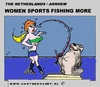Cartoon: Sports Fishing (small) by cartoonharry tagged sports,fishing,women,more,cartoon,comic,comics,comix,artist,art,arts,drawing,cartoonist,cartoonharry,dutch,holland,toonpool,toonsup,hyves,linkedin,buurtlink,deviantart