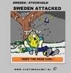 Cartoon: Sweden Attack (small) by cartoonharry tagged sweden,england,idiot,attack,attacked,terrorist,bomb,viking,snow,head,cool,cooler,cooles,cartoon,comic,artist,comix,comics,design,art,toonpool,toonsup,facebook,arts,cartoonist,cartoonharry,dutch