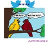 Cartoon: Twitter (small) by cartoonharry tagged twitter,tweets,retweets,birds,people