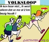 Cartoon: Volksloop (small) by cartoonharry tagged joggen,volksloop,meisje,jongens,cartoon,cartoonist,cartoonharry,dutch,toonpool