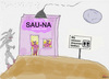 Cartoon: SAU-NA (small) by Vanessa tagged sauna,hitze,schweinchen,rosa,ferkel