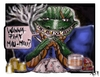 Cartoon: WANNA PLAY MAU- MAU (small) by joschoo tagged mau,play,cards,smoking,drinking,bad,mafia