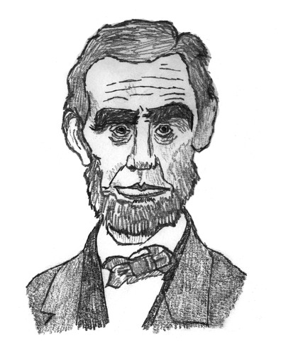 Cartoon: Abraham Lincoln (medium) by Pascal Kirchmair tagged abraham,lincoln,president,präsident,usa