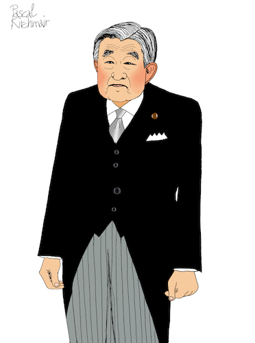 Cartoon: Akihito (medium) by Pascal Kirchmair tagged chrysanthementhron,heisei,kaiser,ichthyology,akihito,tenno,emperor,japan,japon,japao,giappone,imperador,imperatore,emperador,chrysanthemum,throne,porträt,dibuix,illustration,drawing,zeichnung,pascal,kirchmair,cartoon,caricature,karikatur,ilustracion,dibujo,desenho,ink,disegno,ilustracao,illustrazione,illustratie,dessin,de,presse,du,jour,art,of,the,day,tekening,teckning,cartum,vineta,comica,vignetta,caricatura,portrait,retrato,ritratto,portret,abdication,chrysanthementhron,heisei,kaiser,ichthyology,akihito,tenno,emperor,japan,japon,japao,giappone,imperador,imperatore,emperador,chrysanthemum,throne,porträt,dibuix,illustration,drawing,zeichnung,pascal,kirchmair,cartoon,caricature,karikatur,ilustracion,dibujo,desenho,ink,disegno,ilustracao,illustrazione,illustratie,dessin,de,presse,du,jour,art,of,the,day,tekening,teckning,cartum,vineta,comica,vignetta,caricatura,portrait,retrato,ritratto,portret,abdication