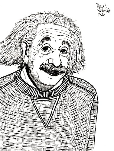 Cartoon: Albert Einstein (medium) by Pascal Kirchmair tagged albert,einstein,theory,of,relativity,illustration,drawing,zeichnung,pascal,kirchmair,cartoon,caricature,karikatur,ilustracion,dibujo,desenho,ink,disegno,ilustracao,illustrazione,illustratie,dessin,de,presse,du,jour,art,the,day,tekening,teckning,cartum,vineta,comica,vignetta,caricatura,portrait,retrato,ritratto,portret,princeton,ulm,gravitation,relativitätstheorie,genius,genie,mastermind,wiz,whizz,whiz,genio,porträt,albert,einstein,theory,of,relativity,illustration,drawing,zeichnung,pascal,kirchmair,cartoon,caricature,karikatur,ilustracion,dibujo,desenho,ink,disegno,ilustracao,illustrazione,illustratie,dessin,de,presse,du,jour,art,the,day,tekening,teckning,cartum,vineta,comica,vignetta,caricatura,portrait,retrato,ritratto,portret,princeton,ulm,gravitation,relativitätstheorie,genius,genie,mastermind,wiz,whizz,whiz,genio,porträt