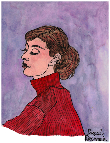 Cartoon: Audrey Hepburn (medium) by Pascal Kirchmair tagged audrey,hepburn,portrait,drawing,illustration,retrato,ritratto,pascal,kirchmair,dibujo,zeichnung,karikatur,caricature,cartoon,ilustracao,ilustracion,tekening,portret,cartum,tolochenaz,ixelles,elsene,illustratie,belgium,hollywood,usa,illustrazione,audrey,hepburn,portrait,drawing,illustration,retrato,ritratto,pascal,kirchmair,dibujo,zeichnung,karikatur,caricature,cartoon,ilustracao,ilustracion,tekening,portret,cartum,tolochenaz,ixelles,elsene,illustratie,belgium,hollywood,usa,illustrazione