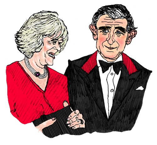 Cartoon: Charles and Camilla (medium) by Pascal Kirchmair tagged duchess,of,cornwall,windsors,britisches,königshaus,house,windsor,royal,monarchy,british,prinz,prince,charles,camilla,parker,bowles