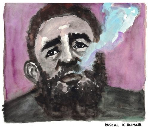 Cartoon: Fidel Castro Ruz (medium) by Pascal Kirchmair tagged fidel,alejandro,castro,ruz,caricature,portrait,karikatur,zeichnung,dessin,drawing,illustration,cartoon,vignetta,cuba,libre,kuba,el,jefe,havanna,la,habana,smoking,rauchend,fumant,fumando,cohiba,fidel,alejandro,castro,ruz,caricature,portrait,karikatur,zeichnung,dessin,drawing,illustration,cartoon,vignetta,cuba,libre,kuba,el,jefe,havanna,la,habana,smoking,rauchend,fumant,fumando,cohiba