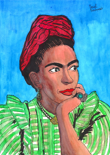 Cartoon: Frida Kahlo (medium) by Pascal Kirchmair tagged frida,kahlo,cartoon,zeichnung,desenho,caricature,illustration,ilustracion,pascal,kirchmair,portrait,retrato,ritratto,drawing,dibujo,disegno,ilustracao,illustrazione,illustratie,dessin,du,jour,art,of,the,day,tekening,teckning,cartum,vineta,comica,vignetta,caricatura,karikatur,ink,immagine,image,bild,imagen,imagem,arte,dipinto,watercolour,watercolor,aquarelle,portret,frida,kahlo,cartoon,zeichnung,desenho,caricature,illustration,ilustracion,pascal,kirchmair,portrait,retrato,ritratto,drawing,dibujo,disegno,ilustracao,illustrazione,illustratie,dessin,du,jour,art,of,the,day,tekening,teckning,cartum,vineta,comica,vignetta,caricatura,karikatur,ink,immagine,image,bild,imagen,imagem,arte,dipinto,watercolour,watercolor,aquarelle,portret