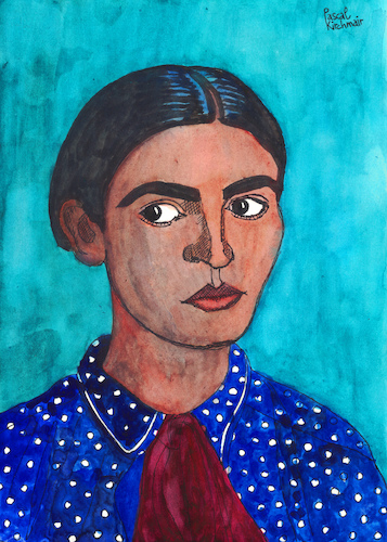 Cartoon: Frida Kahlo de Rivera (medium) by Pascal Kirchmair tagged frida,kahlo,cartoon,painting,zeichnung,desenho,caricature,illustration,ilustracion,pascal,kirchmair,portrait,retrato,ritratto,drawing,dibujo,disegno,ilustracao,illustrazione,illustratie,dessin,du,jour,art,of,the,day,tekening,teckning,cartum,vineta,comica,vignetta,caricatura,karikatur,aquarell,watercolour,watercolor,ink,cuadro,quadro,immagine,image,bild,imagen,imagem,pintura,pittura,arte,frida,kahlo,cartoon,painting,zeichnung,desenho,caricature,illustration,ilustracion,pascal,kirchmair,portrait,retrato,ritratto,drawing,dibujo,disegno,ilustracao,illustrazione,illustratie,dessin,du,jour,art,of,the,day,tekening,teckning,cartum,vineta,comica,vignetta,caricatura,karikatur,aquarell,watercolour,watercolor,ink,cuadro,quadro,immagine,image,bild,imagen,imagem,pintura,pittura,arte