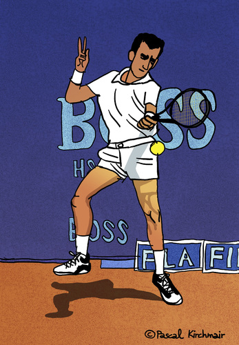 Cartoon: Guy Forget (medium) by Pascal Kirchmair tagged guy,forget,tennis,player,cartoon,vignetta,dessin,illustration,caricature,karikatur,tenis,tenista,atp,french,open,roland,garros,france,frankreich,capitaine,coupe,davis,guy,forget,tennis,player,cartoon,vignetta,dessin,illustration,caricature,karikatur,tenis,tenista,atp,french,open,roland,garros,france,frankreich,capitaine,coupe,davis