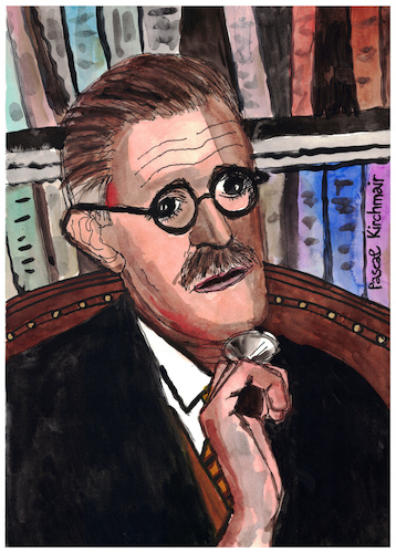 Cartoon: James Joyce (medium) by Pascal Kirchmair tagged james,joyce,portrait,retrato,dibujo,drawing,illustration,ilustracion,ilustracao,illustrazione,caricature,pascal,kirchmair,caricatura,dublin,ireland,irlanda,tekening,illustratie,portret,cartum,cartoon,james,joyce,portrait,retrato,dibujo,drawing,illustration,ilustracion,ilustracao,illustrazione,caricature,pascal,kirchmair,caricatura,dublin,ireland,irlanda,tekening,illustratie,portret,cartum,cartoon