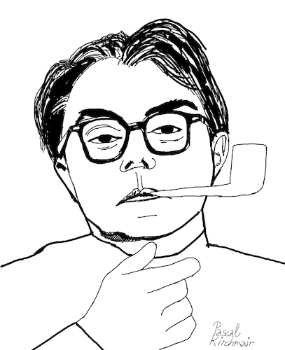 Cartoon: Max Frisch (medium) by Pascal Kirchmair tagged max,frisch,cartoon,caricature,karikatur,ilustracion,illustration,portrait,retrato,pascal,kirchmair,dibujo,desenho,drawing,zeichnung,ritratto,disegno,ilustracao,illustrazione,illustratie,dessin,du,jour,art,of,the,day,tekening,teckning,cartum,vineta,comica,vignetta,caricatura,stiller,homo,faber,mein,name,sei,gantenbein,biedermann,und,die,brandstifter,andorra,ecrivain,schriftsteller,writer,author,auteur,autore,autor,max,frisch,cartoon,caricature,karikatur,ilustracion,illustration,portrait,retrato,pascal,kirchmair,dibujo,desenho,drawing,zeichnung,ritratto,disegno,ilustracao,illustrazione,illustratie,dessin,du,jour,art,of,the,day,tekening,teckning,cartum,vineta,comica,vignetta,caricatura,stiller,homo,faber,mein,name,sei,gantenbein,biedermann,und,die,brandstifter,andorra,ecrivain,schriftsteller,writer,author,auteur,autore,autor
