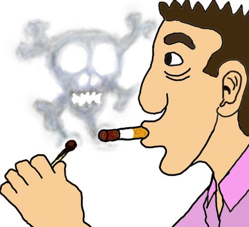 Cartoon: Rauchzeichen (medium) by Pascal Kirchmair tagged cigarette,cigaret,fumee,rauchzeichen,cancer,zigarette,clope,krebs,tod,krankheit,gefahr,vorsicht,zeichen,sign,signe,signal,rauchen,fumer,stop,arreter,aufhören,smoke,dont,smoking,sucht,cartoon,addiction,dependence,dependance