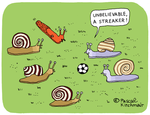 Cartoon: The Streaker (medium) by Pascal Kirchmair tagged flitzer,nackt,schnecken,escargots,snails,streaker,slug,babosa,limace,limaccia,chiocciola,caracol,cartoon,caricature,karikatur,drawing,dibujo,vineta,comica,cartum,desenho,dessin,zeichnung,humour,humor,flitzer,nackt,schnecken,escargots,snails,streaker,slug,babosa,limace,limaccia,chiocciola,caracol,cartoon,caricature,karikatur,drawing,dibujo,vineta,comica,cartum,desenho,dessin,zeichnung,humour,humor
