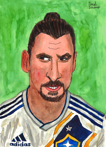 Cartoon: Zlatan Ibrahimovic (medium) by Pascal Kirchmair tagged zlatan,ibrahimovic,caricature,illustration,ilustracion,pascal,kirchmair,portrait,retrato,ritratto,drawing,dibujo,desenho,disegno,ilustracao,illustrazione,illustratie,zeichnung,dessin,du,jour,art,of,the,day,tekening,teckning,cartum,cartoon,vineta,comica,vignetta,caricatura,karikatur,aquarell,watercolour,watercolor,la,galaxy,los,angeles,trikot,football,foot,futbol,futebol,fußball,shirt,jersey,footie,footy,calcio,zlatanera,zlataner,zlatanieren,zlatanize,zlatan,ibrahimovic,caricature,illustration,ilustracion,pascal,kirchmair,portrait,retrato,ritratto,drawing,dibujo,desenho,disegno,ilustracao,illustrazione,illustratie,zeichnung,dessin,du,jour,art,of,the,day,tekening,teckning,cartum,cartoon,vineta,comica,vignetta,caricatura,karikatur,aquarell,watercolour,watercolor,la,galaxy,los,angeles,trikot,football,foot,futbol,futebol,fußball,shirt,jersey,footie,footy,calcio,zlatanera,zlataner,zlatanieren,zlatanize
