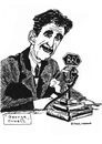 Cartoon: George Orwell (small) by Pascal Kirchmair tagged george,orwell,bbc,animal,farm,1984,big,brother