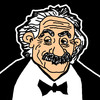 Cartoon: Albert Einstein (small) by Pascal Kirchmair tagged fisico,physics,teoria,della,relativita,theorie,de,la,relativite,relatividad,theory,of,relativity,restreinte,albert,einstein,relativitaetstheorie,mc2,relative,physiker,physicien