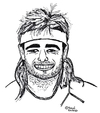 Cartoon: Andre Agassi (small) by Pascal Kirchmair tagged andre,agassi,caricature,karikatur,portrait,cartoon,vignetta,tennis,usa,las,vegas,nevada