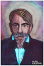 Cartoon: Arthur Schnitzler (small) by Pascal Kirchmair tagged arthur schnitzler wiener moderne portrait retrato ritratto caricature karikatur zeichnung drawing