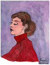 Cartoon: Audrey Hepburn (small) by Pascal Kirchmair tagged audrey,hepburn,portrait,drawing,illustration,retrato,ritratto,pascal,kirchmair,dibujo,zeichnung,karikatur,caricature,cartoon,ilustracao,ilustracion,tekening,portret,cartum,tolochenaz,ixelles,elsene,illustratie,belgium,hollywood,usa,illustrazione