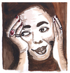 Cartoon: Cesaria Evora (small) by Pascal Kirchmair tagged cesaria,evora,caricature,karikatur,portrait,cartoon,aquarell,watercolour,cabo,verde,kap,sängerin,singer,songwriter,sodade,morna