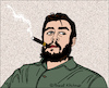 Cartoon: Che Guevara (small) by Pascal Kirchmair tagged che guevara vignetta vineta comica portrait retrato ritratto cartoon caricature karikatur illustration dibujo desenho drawing dessin pascal kirchmair porträt zeichnung cuba libre kuba havanna cohiba havana habana la havane avana