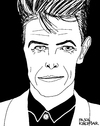 Cartoon: David Bowie (small) by Pascal Kirchmair tagged david,bowie,portrait,zeichnung,drawing,karikatur,caricature,cartoon