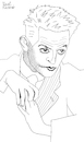 Cartoon: Egon Schiele I (small) by Pascal Kirchmair tagged krumau,spanische,grippe,expressionismus,expressionism,wiener,moderne,egon,schiele,tulln,wien,vienna,vienne,viena,illustration,drawing,zeichnung,pascal,kirchmair,cartoon,caricature,karikatur,ilustracion,dibujo,desenho,ink,disegno,ilustracao,illustrazione,illustratie,dessin,de,presse,du,jour,art,of,the,day,tekening,teckning,cartum,vineta,comica,vignetta,caricatura,portrait,retrato,ritratto,portret