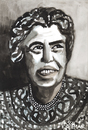 Cartoon: Eleanor Roosevelt (small) by Pascal Kirchmair tagged eleanor,roosevelt,portrait,aquarell,painting,watercolor
