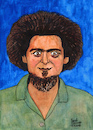 Cartoon: Georges Perec (small) by Pascal Kirchmair tagged georges perec illustration drawing zeichnung pascal kirchmair irische impressionen cartoon caricature karikatur ilustracion dibujo desenho ink disegno ilustracao illustrazione illustratie dessin de presse du jour art of the day tekening teckning cartum vineta comica vignetta caricatura portrait retrato ritratto portret aquarelle watercolor watercolour acquarello acuarela aguarela aquarela paris france frankreich schriftsteller essayist filmmaker author writer autor artist künstler ecrivain scrittore escritor