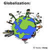 Cartoon: Globalisierung (small) by Pascal Kirchmair tagged globalisation,globalization,globalisierung,war,economy,politik,politics,usa,poor,rich,countries