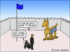 Cartoon: GREXIT (small) by Pascal Kirchmair tagged grexit,greece,griechenland,troja,trojanisches,pferd,troy,karikatur,caricature,cartoon