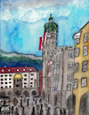 Cartoon: Innsbrucker Altstadt (small) by Pascal Kirchmair tagged aquarell,altstadt,stadtturm,goldenes,dachl,petit,toit,or,golden,roof,innsbruck,watercolour,watercolor,illustration,ilustracion,ilustracao,pascal,kirchmair,tejado,dorado,tettuccio,oro,telhado,dourado,dibuix,drawing,zeichnung,cartoon,caricature,karikatur,dibujo,desenho,ink,disegno,illustrazione,illustratie,dessin,du,jour,art,of,the,day,tekening,teckning,aquarelle,acquarello,acuarela,aguarela,aquarela,tirol,tyrol,berge,landschaft,nordkette,montagnes,montagne,montanas,mountains,austria,autriche,österreich,alpen,alps,alpi,alpes