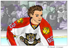 Cartoon: Jaromir Jagr (small) by Pascal Kirchmair tagged jaromir jagr nhl florida panthers lnh caricature cartoon karikatur illustration drawing pascal kirchmair vineta comica vignetta ice hockey player eishockey usa dibujo desenho disegno zeichnung dessin