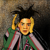 Cartoon: Jean-Michel Basquiat (small) by Pascal Kirchmair tagged jean,michel,basquiat,portrait,retrato,ritratto,karikatur,caricature,cartoon,illustration,dibujo,desenho,disegno,dessin,drawing,zeichnung