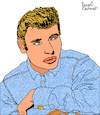 Cartoon: Johnny Hallyday (small) by Pascal Kirchmair tagged johnny,hallyday,jean,philippe,smet,dessin,drawing,illustration,pascal,kirchmair,dibujo,retrato,portrait,caricatura,cartoon,caricature,cartum,tekening,karikatur,ilustracion,illustratie,ilustracao,portret,illustrazione,ritratto,desenho,disegno,wacom,cintiq,21ux,ritning,teckning,rock,roll,les,portes,du,penitencier,star,olympia