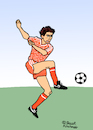 Cartoon: Marco van Basten (small) by Pascal Kirchmair tagged marco van basten cartoon caricature karikatur dibujo pascal kirchmair drawing dessin vignetta dutch holland 88 1988 uefa euro star football fußball foot futebol futbol soccer netherlands niederlande