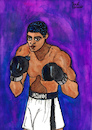 Cartoon: Muhammad Ali (small) by Pascal Kirchmair tagged world heavyweight champion the greatest of all time boxer cassius clay muhammad ali illustration drawing zeichnung pascal kirchmair cartoon caricature karikatur ilustracion dibujo desenho ink disegno ilustracao illustrazione illustratie dessin de presse du jour art day tekening teckning cartum vineta comica vignetta caricatura portrait retrato ritratto portret painting watercolor watercolour arte aquarell