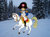 Cartoon: Napoleon in Tirol (small) by Pascal Kirchmair tagged defaite andreas hofer innsbruck schlacht bergisel berg isel tirol winter franzosenkaiser empereur franzosen der kaiser bonaparte napoleon
