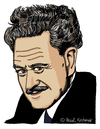 Cartoon: Nazim Hikmet (small) by Pascal Kirchmair tagged nazim,hikmet,caricature,portrait,cartoon,karikatur