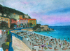Cartoon: Nizza (small) by Pascal Kirchmair tagged ferien,strand,mittelmeer,urlaub,travel,holidays,vacances,nice,nizza,südfrankreich,provence,mediterranee,aquarell,watercolour