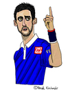 Cartoon: Novak Djokovic (small) by Pascal Kirchmair tagged novak,djokovic,caricature,karikatur,cartoon,vignetta