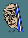 Cartoon: Pablo (small) by Pascal Kirchmair tagged hommage,picasso,pablo,homage,kunst,künstler,spanien,spain,espagne,espana,barcelona,paris,art,artist,artiste,artista,painter,peintre,pittore,digital,drawing,cartoon,zeichnung,photoshop