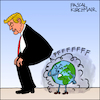 Cartoon: Paris climate agreement (small) by Pascal Kirchmair tagged donald trump farts paris climate change agreement cartoon caricature karikatur illustration vignetta dibujo dessin drawing desenho disegno